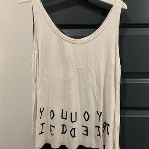 NWT White graphic tank from Urban Outfitters